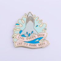 Shark Week brooch