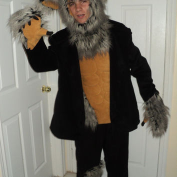 mjcreation costume  werewolf made to order all size  choice of fabric colors mjcreation