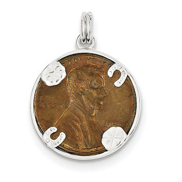 Sterling Silver Penny Charm QC4732