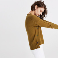 Brownstone Side-Button Sweater