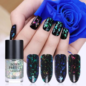 BORN PRETTY Chameleon Nail Polish 9ml Brocade Series Flakies Glitter Sequins Nail Lacquer Varnish (Black or Dark Base Needed)