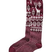 Women's Patterned Boot Socks