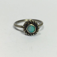 Dainty Opal Ring; genuine opal; opal ring; sterling silver ring; handmade ring; engagement ring; boho chic; fine jewelry; wedding ring