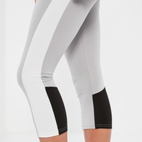 Missguided - Active Grey Contrast Sports Leggings
