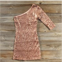 Golden Moon Party Dress in Rose Gold