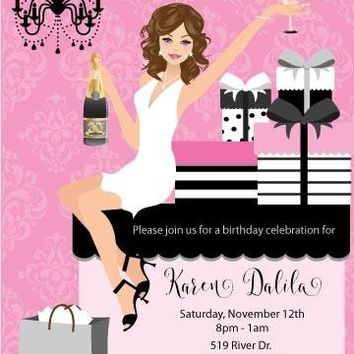 Elegant Gifts Birthday Party Invitations