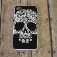 black and white, skull iPhone 4/4s case/cover No.4-25