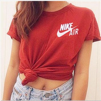 NIKE Fashion Cotton Short Sleeve Shirt Top Tee