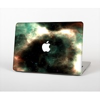 The Dark Green Glowing Universe Skin Set for the Apple MacBook Pro 15""
