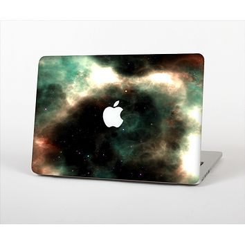 The Dark Green Glowing Universe Skin Set for the Apple MacBook Air 13""