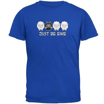 Just Be You Ewe Black Sheep Mens Soft T Shirt