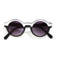Ulta Silver and Black Sunglasses