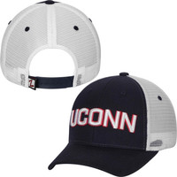 UConn Huskies Zephyr Basic Trucker Snapback Adjustable Hat – Navy Blue