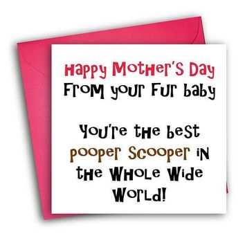 From Your Fur Baby Funny Mother's Day Card Card For Her Card For Mom FREE SHIPPING