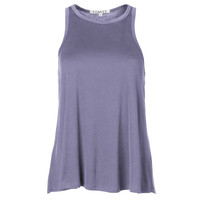Lindsay - Women's Boyfriend-Fit Sleeveless O-Neck Baby Rib Loose Soft Premium Tank Top