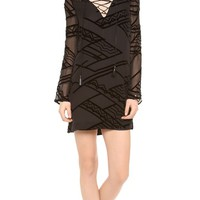 Tie Front Shift Dress