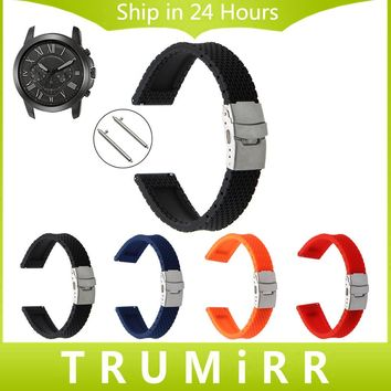 Quick Release Silicone Rubber Watch Band for Fossil Q Tailor Gazer Founder Wander Crewmaster Grant Marshal Nate Wrist Belt Strap