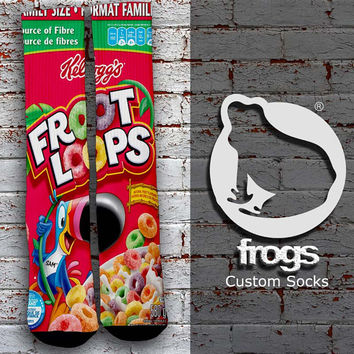 Froot Loops Elite Socks, Custom socks, Personalized socks