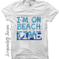 Iron on Beach Shirt PDF - Summer Iron on Transfer / Kids Beach House Decor / Toddler Boys Clothes / Womens Shirt / Ocean Print IT223