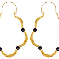 Swirl Teardrop Earrings, LapisEVELYN KNIGHT