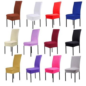 Dining Chair Covers Spandex Stretch Dining Room Chair Protector Slipcover Decor
