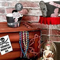 Goonies themed cupcake wrappers and picks - Edit Listing - Etsy