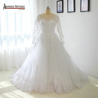 Stunning Long Sleeves Lace A-line Wedding Dresses