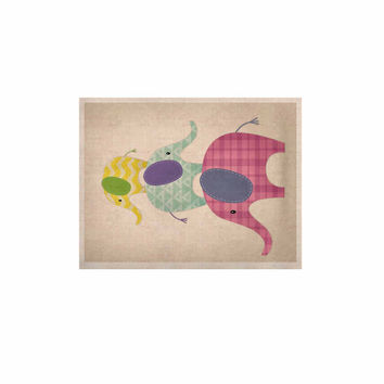 "Noonday Design ""Balancing Act "" Multicolor Kids KESS Naturals Canvas (Frame not Included)"