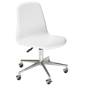 White Class Act Desk Chair in Desk Chairs | The Land of Nod