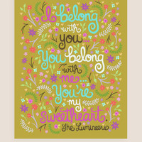 11x14-in Lumineers Song Illustration Print.