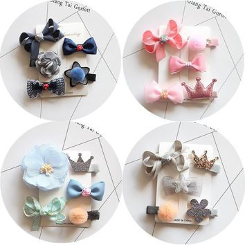 fashion hair clip accessories bows for child kawaii tiara headdress girls hairpins hair barrette ornaments headwear hairgrips