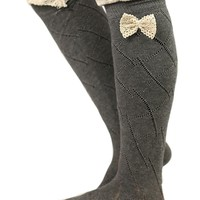 Sugar & Spice Boot Socks in Grey