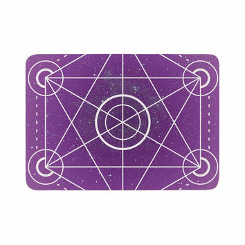 "Matt Eklund ""Dalaran"" Geometric Purple Memory Foam Bath Mat"