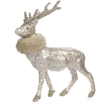 Sherri's Designs Mica Deer with Faux Fur Collar