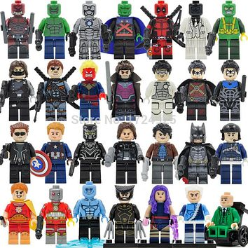 Marvel Single Sale Superhero Legoingly Figure Mystique Sentry Deadshot Deathstroke Iceman MK2 Building Blocks Model Bricks Toys