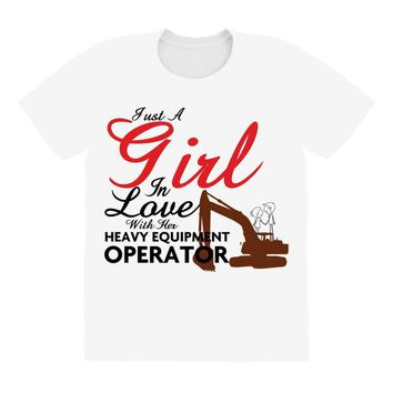 Just A Girl In Love With Her Heavy Equıpment Operator All Over Women's T-shirt
