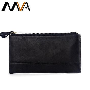 Genuine Leather Wallets Mens Wallet Clutch Zipper Money Clip Wallets Leather Wallet Purse Bag With Coin Pocket Male Purse