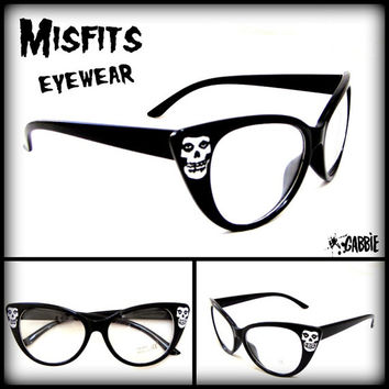 Misfits Eyewear (Punk Rock) - Vintage Retro Cat Eye Eyeglasses Frame - Custom Painted - One of a kind!