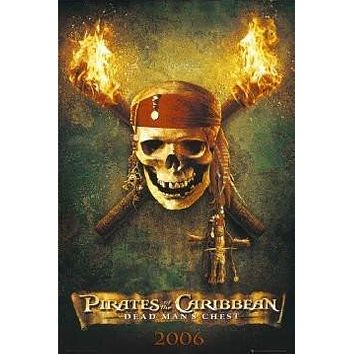 PIRATES OF THE CARIBBEAN POSTER -DEAD MAN'S CHEST SKULL