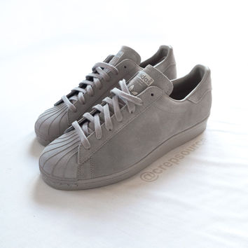 miadidas Superstar 80s 2015 Grey Feather - crepsource