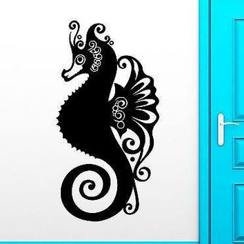 Wall Sticker Vinyl Decal Seahorse Ocean Marine Animal Bathroom Decor Unique Gift (ig2159)