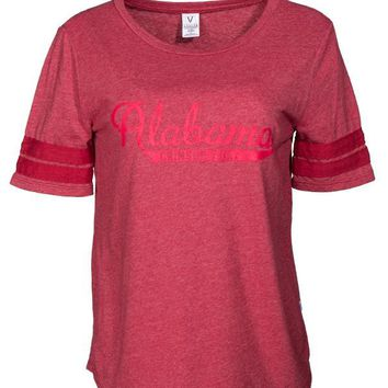 Official NCAA Venley University of Alabama Crimson Tide UA ROLL TIDE! Women's Triblend Stylish T-Shirt Football T-Shirt