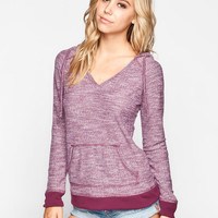 Roxy One Time Womens Hoodie Merlot  In Sizes
