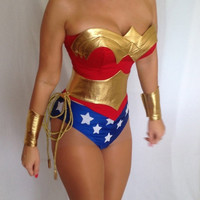 New  Wonder Woman Costume  Replica Custom Made Sizes XS-M