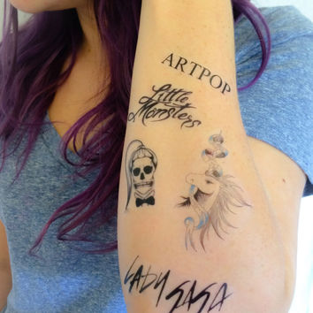 5 Lady Gaga Temporary Tattoos- GeekTat