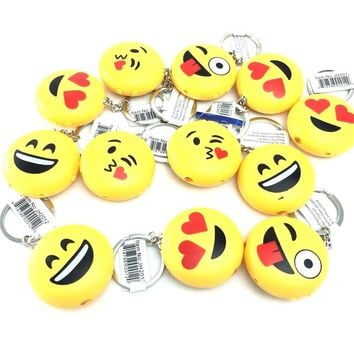 6 Pcs Emoji 3 IN 1 Mini LED-SHOCK-LASER Kids Party Supplies Favors