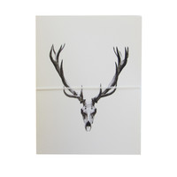 deer skull note cards