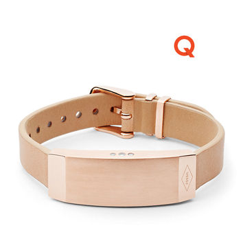 Q Dreamer Sand Leather Activity Tracker - $95.00
