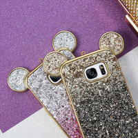 KISSCASE For Samsung Galaxy S7 Case, Lovely Glitter Powder Silicone Case For Samsung Galaxy S7 S7 Edge Cases Slim Back Cover