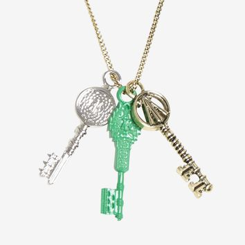 Licensed cool Ready Player One Movie Three Keys Charm Pendant Necklace Licensed NWT